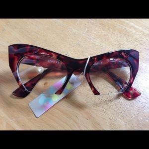 Accessories - 🔴 5/$25 NWT Cat Eye Fashion Glasses Super Cute